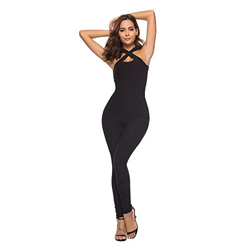 Fitness Clothing Ladies One Piece Sports Fitness Gym Fitness Jumpsuit Pants Sexy Yoga Bandage Fitness Tights