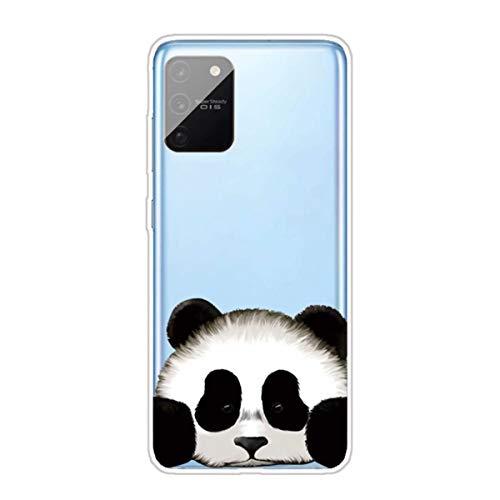 Miagon Transparent Hülle für Samsung Galaxy S10 Lite,Panda Kopf Muster Kreativ Süße Durchsichtig Klar Soft Ultra Dünn Silikon Case Cover Schutzabdeckung