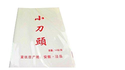 Lot de 50 feuilles de papier de riz pour calligraphie et peinture 39 x 50 cm
