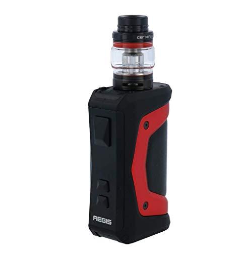 GeekVape Aegis X 200 Watt mit Cerberus E-Zigaretten Set - 5,5ml Tankvolumen Farbe: rot-schwarz