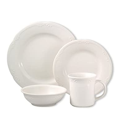 Pfaltzgraff Filigree Dinnerware Set (32 Piece), White
