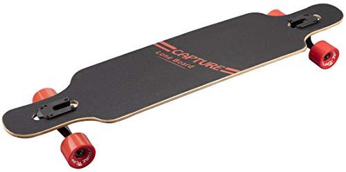 Capture Outdoor, Freeride Longboard 41 Zoll, 104 cm, 41 Zoll, Longboard, Ahornholz, ABEC-7 Carbon, ideal für große Kurven, ...