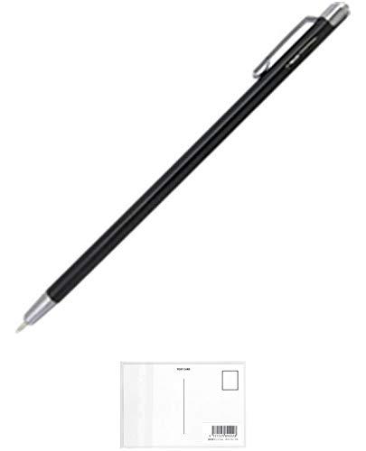 オートミニモボールペン/1Pセリース (軸色):ブラック NBP-505MN-BK 【 5本】 + 画材屋ドットコム ポストカードA