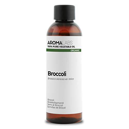 100% BIO - Huile végétale de BROCOLI - 100mL - Garantie Pure, Naturelle, Certifiée Biologique, Pressée à froid - Aroma Labs (Marque Française)