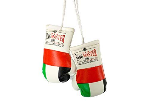 RingMasterUK Mini-Boxhandschuhe, Auto-Aufhänger für Lieferwagen, Rückspiegel, Geschenk Flaggen (U.A.E)