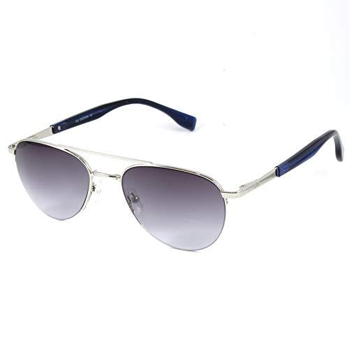 CHANCE - VISOR gafas de sol aviador unisex - Edición limitada (Plata, Gris)
