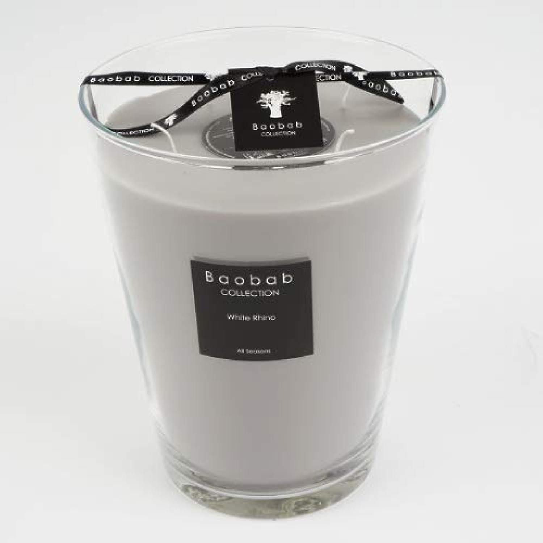 Baobab Max 24 Weiß Rhino Kerze, Kerzenwachs, 24cm, 24x20x20 cm