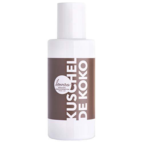 Loovara KUSCHEL DE KOKO – Premium Massage-Öl I Pflegendes Kokos-Öl & Sheabutter I Reich an Mineralien, Antioxidantien & Vitaminen I 100% vegan, natürlich & mikroplastikfrei I Made in Germany I 100 ml
