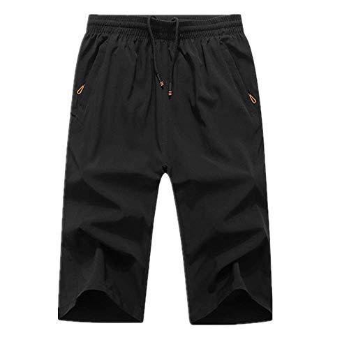 N\P Correr al aire libre Pantalones Cortos de los Hombres de Verano de Gimnasio Fondos de los Hombres de Fitness Shorts de Secado Rápido - negro - 3X