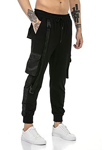 Redbridge Pantalón Chandal para Hombre Joggers Sweat-Pants Negro XL