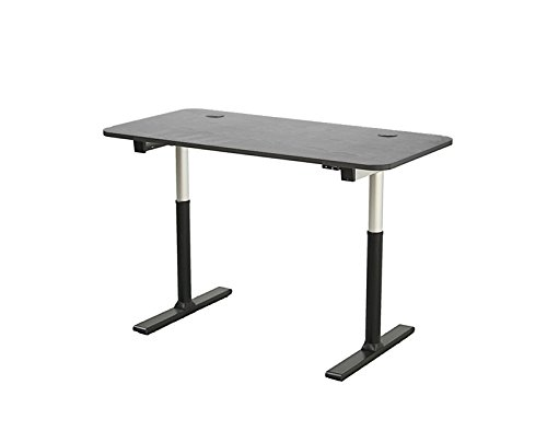 "ApexDesk Vortex Series 60"" 2-Button Electric Height Adjustable Sit to Stand Desk, Light Cherry Top with Standard Controller"