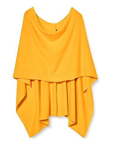 comma Damen 81.003.91.6311 Mode-Schal, 1449 Yellow, Einheitsgröße