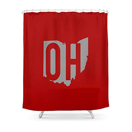 """fengyijiating Ohio State Pride Shower Curtain 60""""x 72"""" for Bathroom"""