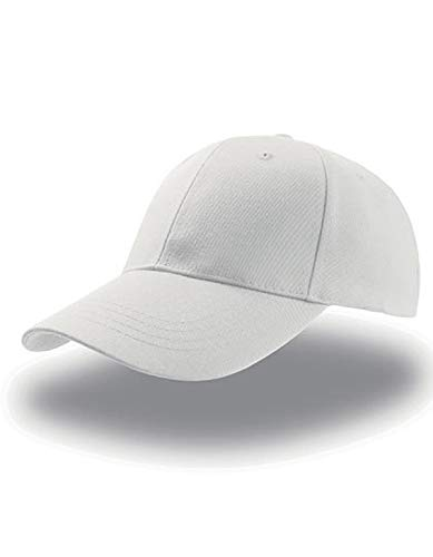 Atlantis Zoom Sports 6 Panel Baseball Cap - White - OS