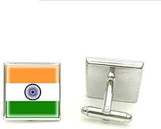 Flag Of India Square Cufflink H Craft Jewelry Silver Glass Photo Br Cufflinks Mens Cuff Wedding