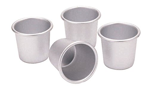 Kitchen Craft KCDARIOL Set de 4 Moules Anodisés, Aluminium, Argent, 9 x 12 x 16 cm