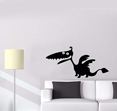 sanzangtang Calcomanía de Pared de Dinosaurio Monstruo para habitación de niños fantasía Dragon Story Vinilo Adhesivo Papel Tapiz calcomanía Infantil decoración de Dormitorio 63x31 cm
