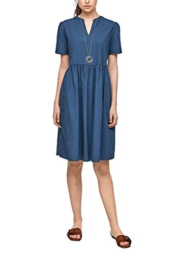 s.Oliver Damen Kleid mit Tunika-Ausschnitt Faded Blue 32