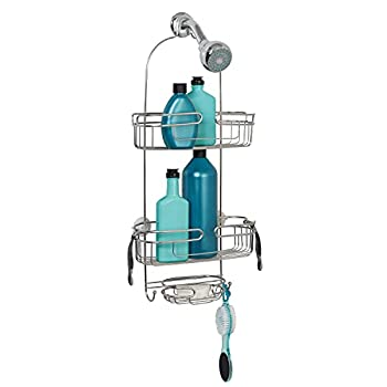 Zenna Home Shower Stainless Steel Over-The-Showerhead Caddy Stainless