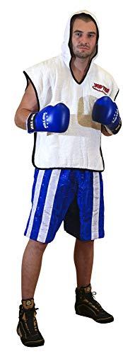 TopTen 1808-6180 Pantalones Cortos para Aficionados al fútbol, Azul y Blanco, Large Unisex Adulto