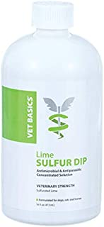 Revival Animal Health Vet Basics Lime Sulfur Dip - Antifungal Solution for Cats, Dogs, Horses
