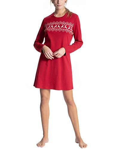 CALIDA Damen Family & Friends Nachthemd, Rot (Rio Red 167), 44 (Herstellergröße: M)