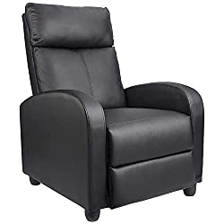 Homall Single Recliner Chair Padded Seat -best living room chair for back pain