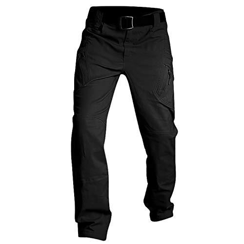Pantalones De Los Hombres Casual Pantalones De Trabajo Estilo Pantalon Negro Delgado Baggy Pantalones
