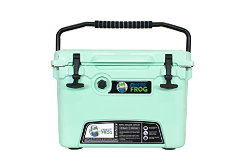 Frosted Frog Mint Green 20 Quart Ice Chest Heavy Duty High Performance Roto-Molded Commercial Grade Insulated Cooler