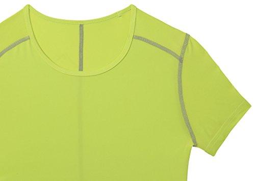 TCA Superthermal Quickdry Damen Laufshirt/Funktionsshirt mit Rundhalsausschnitt – Limettengrün, M - 5