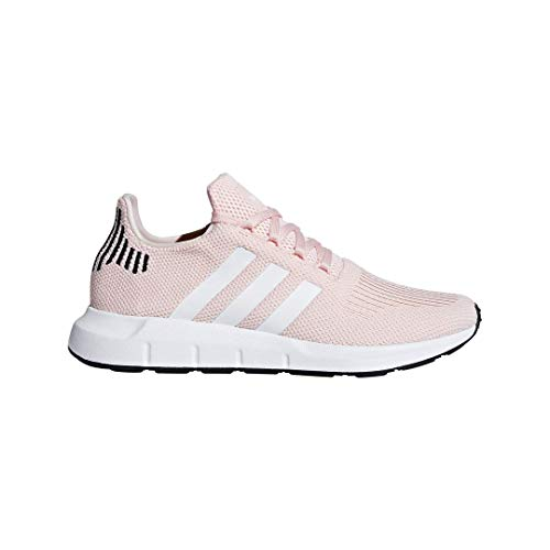 adidas Originals Women's Swift Run Sneaker, ice Pink/White/Black, 7 M US