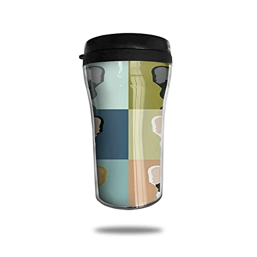 Travel Coffee Mug, 8.45 OZ Travel Tumbler Mug with Flip Lid,3D Printed Portable Coffee Cup for Home, Office, Travel ,Father's Day Gift,250ml,French Bulldog