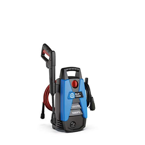 AR Blue Clean 1,600 psi Electric Pressure Washer, Nozzles, Spray Gun, Wand,...