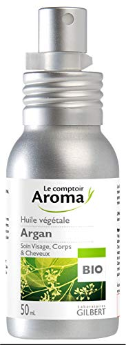 Le Comptoir Aroma Huile de Massage Argan Bio Flacon-Pompe 50 ml