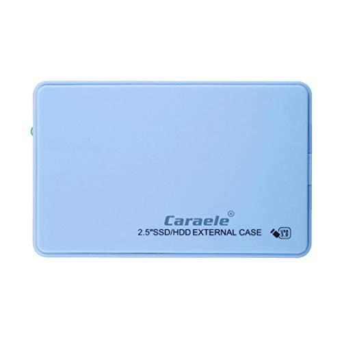 Gazechimp Disco Duro Externo Portátil - 2.5'' USB 3.0 SATA HDD Diseño Metal para Computadora Portátil, Computadora de Escritorio - Azul 1T