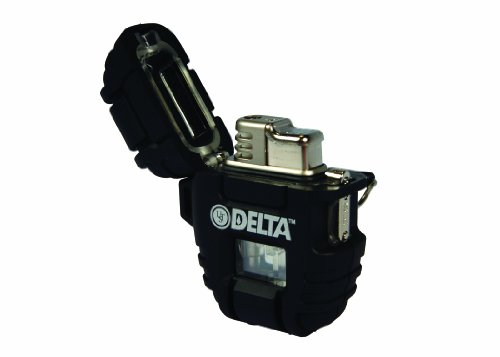 UST Delta Stormproof Lighter with Lightweight, Rugged Construction, Turbo Flame and Fuel Level Window for Camping, Backpacking, Hiking and Outdoor Survival
