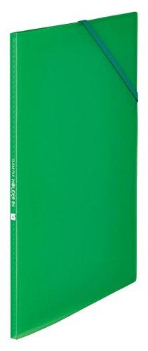 キングジム クリアファイル ホルダーイン A4 4ポケット 6171T 緑