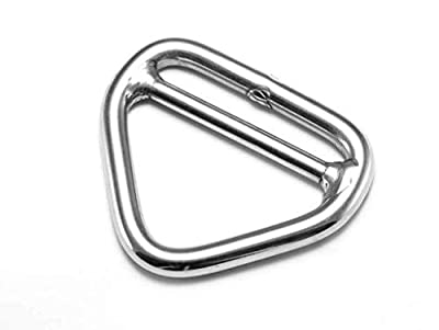 2 Pieces Stainless Steel 316 (6mm x 50mm) Triangle Ring Welded with Cross Bar Marine Grade