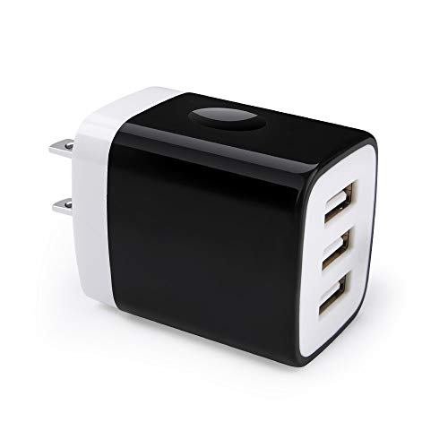 Multiple USB Wall Charger, Hootek 3-Multi Port USB Charger 3.1A Charging Station Charging Block Cube Compatible iPhone 11 Pro XS XR X 8 7 Plus, iPad, Galaxy S20 S10 S9 S8 S7 Note 10+ 9 8, LG, Nexus