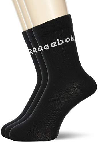 Reebok Crewsock Act Core Mid Crew Sock 3P, Black, GH0331, Gr.L