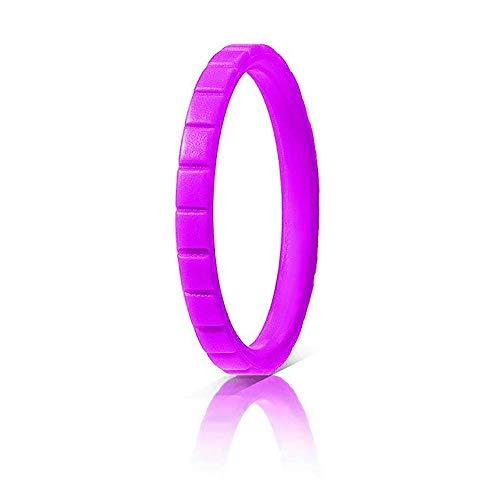 UANDM Siliconen Trouwringen voor vrouwen Heren Bruiloft Ring Outdoor Ademende Sport Duurzame en Comfortabele Antibacteriële Siliconen Ring Gear Patroon Paal Geometrische Patroon Paar Regenboog Kleur