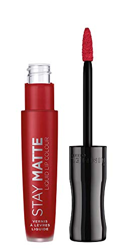 Labial Rimmel London Stay Matte Tono 500 Fire Starter