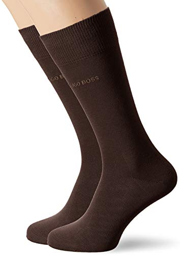 BOSS Herren Rs Uni Cc Socken, Braun (Dark Brown 206), 43W / 46L (2er Pack)