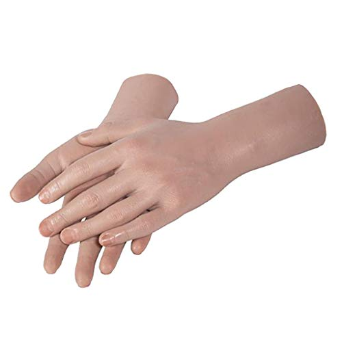 lahomia Soft Silicone Hand Model for Mann's Head Display