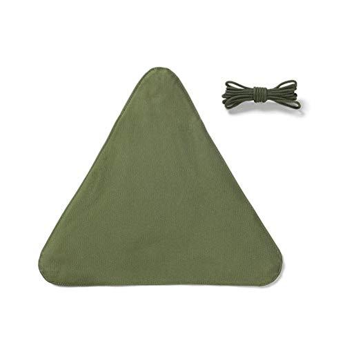 Taburete plegable portátil, triangular, de tela, plegable, para camping, pesca, senderismo, jardinería y playa.