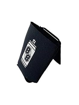 BevvyBuddy - Black Ultimate Neoprene Can Cooler Sleeve Beverage Holder Stainless Steel Metal Card Bottle Opener 12 oz & 16 oz Drink Support