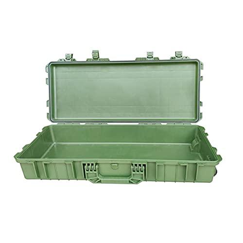 Caja de herramientas Caja de herramientas de plástico con ruedas Caja de almacenamiento alargada con 2 mango para arrastrar o transportarse por manos duraderas para reparación de camiones de automóvil