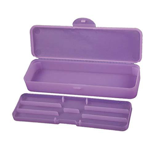 chiwanji Boîte de Rangement en Plastique Stockage pour Perles Bijoux/Ongle Nail Art - Violet