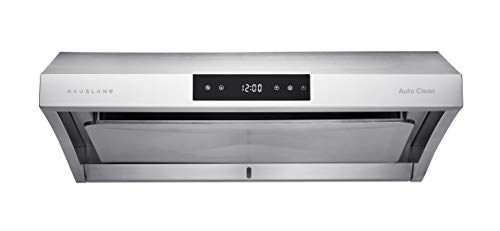 Hauslane | Chef Series Range Hood 30' PS38 PRO PERFORMANCE Stainless Steel Slim Under Cabinet Range Hood Design | Steam Auto Clean, 950 CFM, Touch Panel | Superior Perimeter Aspiration Extraction