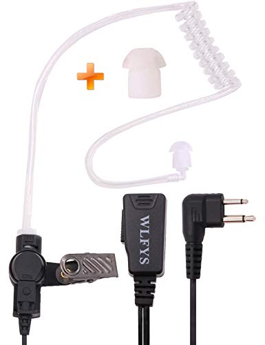 Purchase Wlfys Earpiece 2 Pin Covert Acoustic Tube Headset with Big Mic PTT Compatible Motorola CLS1...